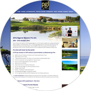 Website created for PGL Golf Tours