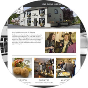 Website created for The Globe Inn at Calthwaite
