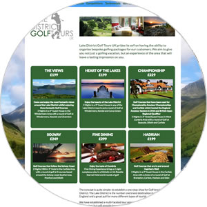 Website created for Lake District Golf Tours UK