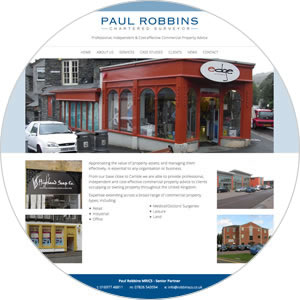 Website created for Paul Robbins Chartered Surveyor